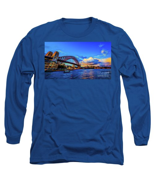 Long Sleeve T-Shirt featuring the photograph Harbor Bridge by Perry Webster