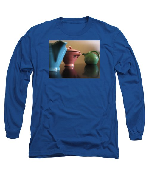 Harlequin Pottery Long Sleeve T-Shirt by Christopher Woods