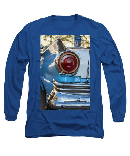 Long Sleeve T-Shirt featuring the photograph Havana Cuba Vintage Car Tail Light by Joan Carroll