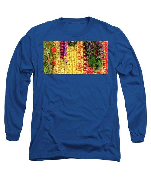 Hawaiian Flower Lei's Long Sleeve T-Shirt