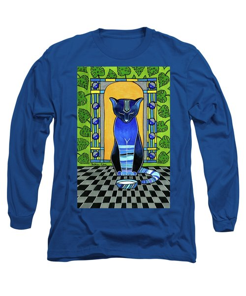 He Is Back - Blue Cat Art Long Sleeve T-Shirt
