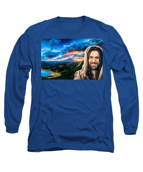 He Watches Over Me Long Sleeve T-Shirt by Karen Showell