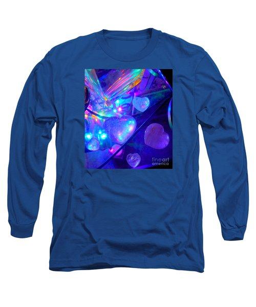 Heavenly Hearts Long Sleeve T-Shirt by Marlene Rose Besso