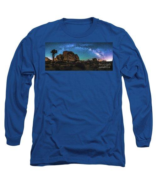 Hidden Valley Milky Way Panorama Long Sleeve T-Shirt by Robert Loe