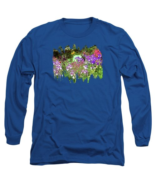 Long Sleeve T-Shirt featuring the photograph Hiding In The Garden by Thom Zehrfeld