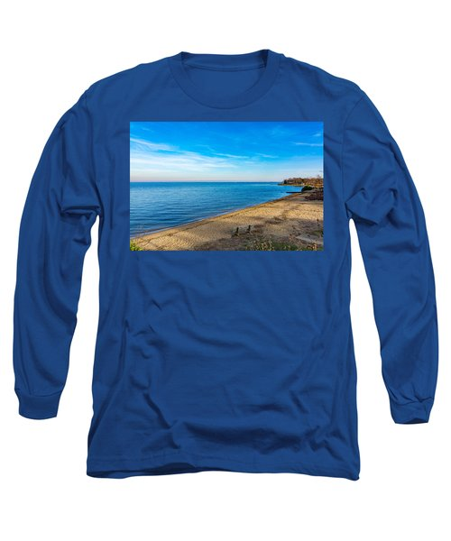 Long Sleeve T-Shirt featuring the photograph Hillsmere Beach On The Chesapeake by Charles Kraus
