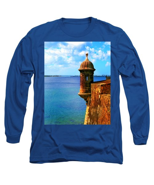 Historic San Juan Fort Long Sleeve T-Shirt by Perry Webster