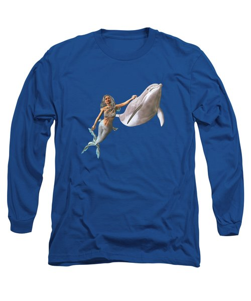 Hitching A Ride Long Sleeve T-Shirt by Methune Hively