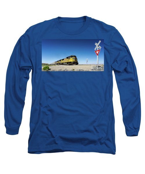 Caution Do Not Stop On Tracks Long Sleeve T-Shirt
