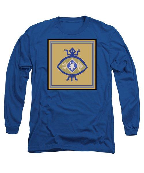 Hohokam Mimbres Turtle Family Long Sleeve T-Shirt