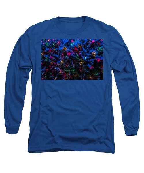 Holiday Lights In Snow Long Sleeve T-Shirt