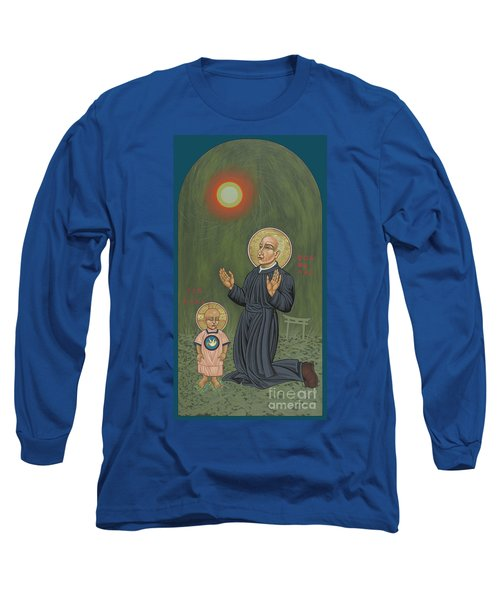 Long Sleeve T-Shirt featuring the painting Holy Father Pedro Arrupe, Sj In Hiroshima With The Christ Child 293 by William Hart McNichols