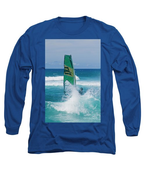 Long Sleeve T-Shirt featuring the photograph Hookipa Windsurfing North Shore Maui Hawaii by Sharon Mau