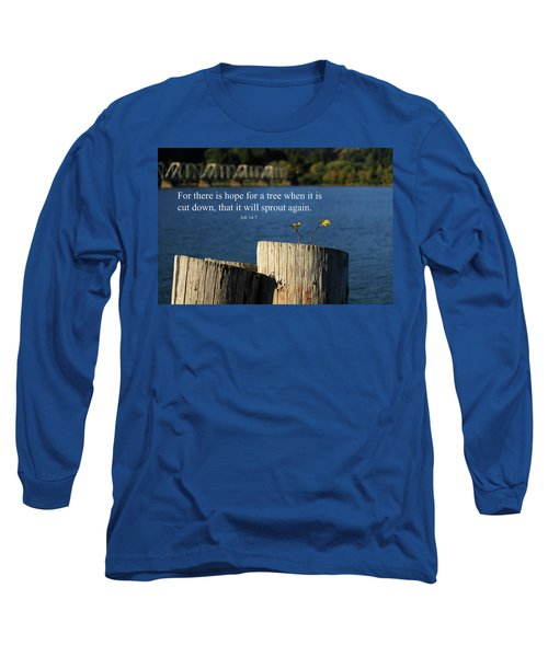 Hope For A Tree Long Sleeve T-Shirt by James Eddy