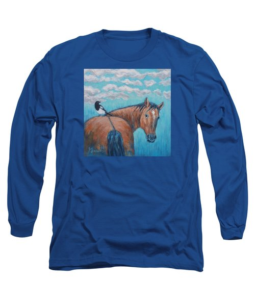 Horse And Magpie Long Sleeve T-Shirt