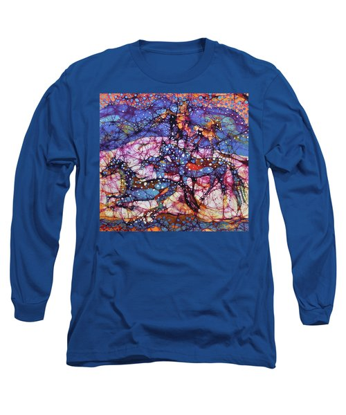 Horses Gallop In Snowfields Long Sleeve T-Shirt