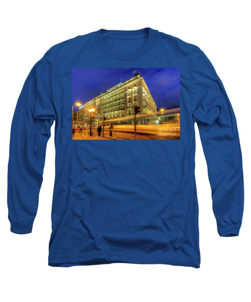 Long Sleeve T-Shirt featuring the photograph Hotel Grande Bretagne - Athens by Yhun Suarez