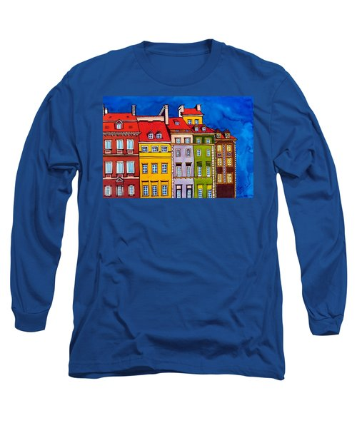 Houses In The Oldtown Of Warsaw Long Sleeve T-Shirt