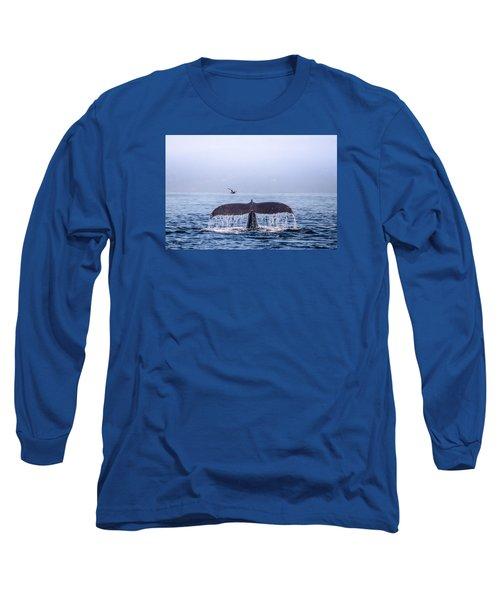 Humpback Whale Flukes Long Sleeve T-Shirt