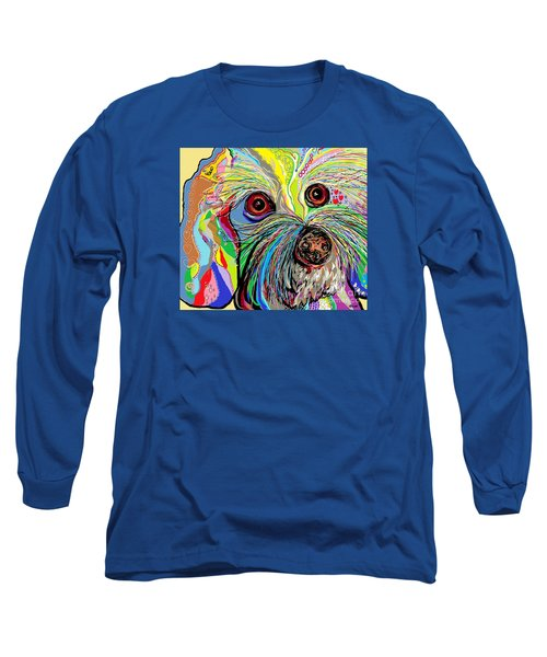 Hunter The Bichon . . . He's A Shoe Man Long Sleeve T-Shirt
