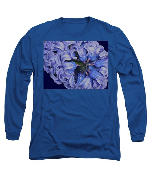 Hyacinth Curls Long Sleeve T-Shirt by Lynda Lehmann