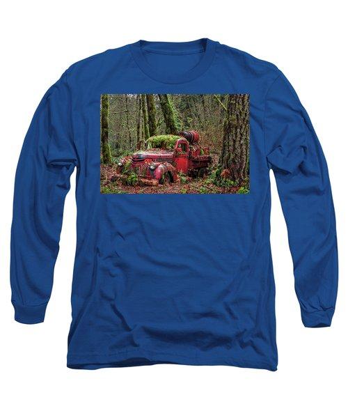 Hybrid Fire Truck Long Sleeve T-Shirt
