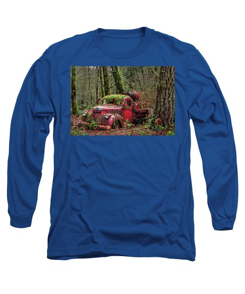 Hybrid Fire Truck Long Sleeve T-Shirt