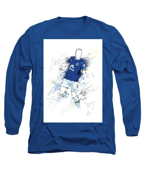 I Am Blue And White Long Sleeve T-Shirt