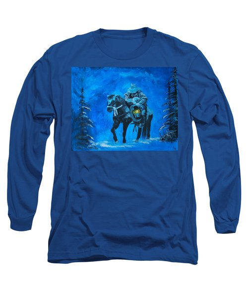 Long Sleeve T-Shirt featuring the painting I Will Carry You by Leslie Allen