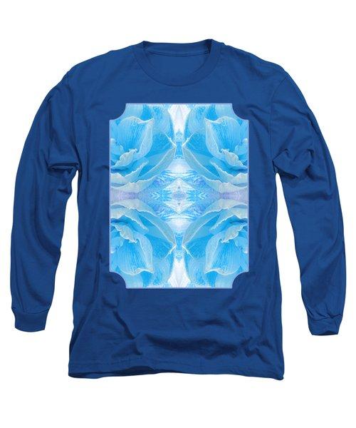 Ice Blue Mosaic - Vertical Long Sleeve T-Shirt
