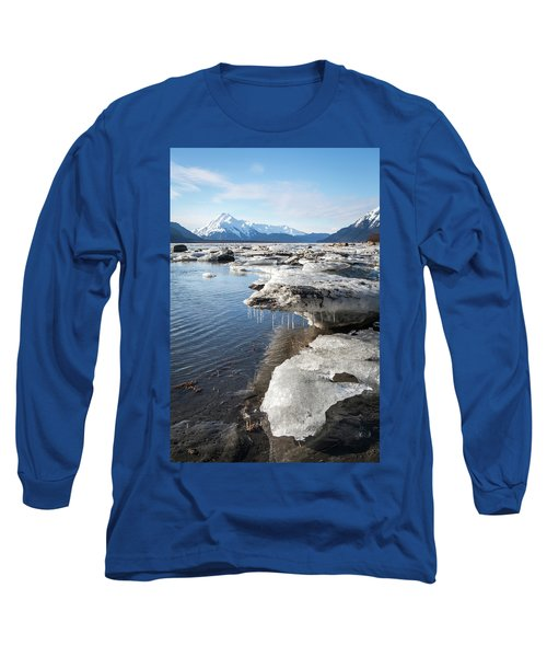 Ice Chunks In The Chilkat Estuary Long Sleeve T-Shirt