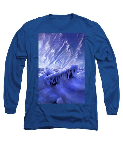 Long Sleeve T-Shirt featuring the photograph Iced Blue by Phil Koch