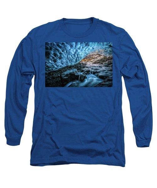 Icelandic Ice Cave Long Sleeve T-Shirt