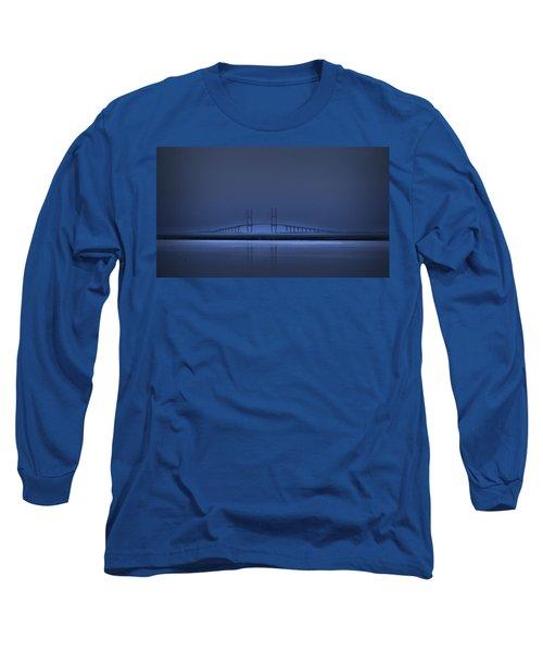 I'm In A Blue Mood Long Sleeve T-Shirt by Laura Ragland
