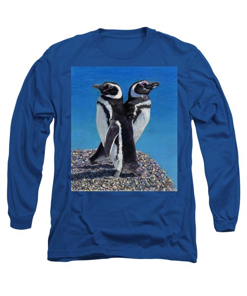 I'm Not Talking To You - Penguins Long Sleeve T-Shirt by Patricia Barmatz