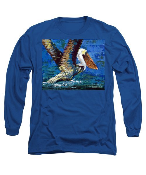 Long Sleeve T-Shirt featuring the painting Im Outa Here by Suzanne McKee