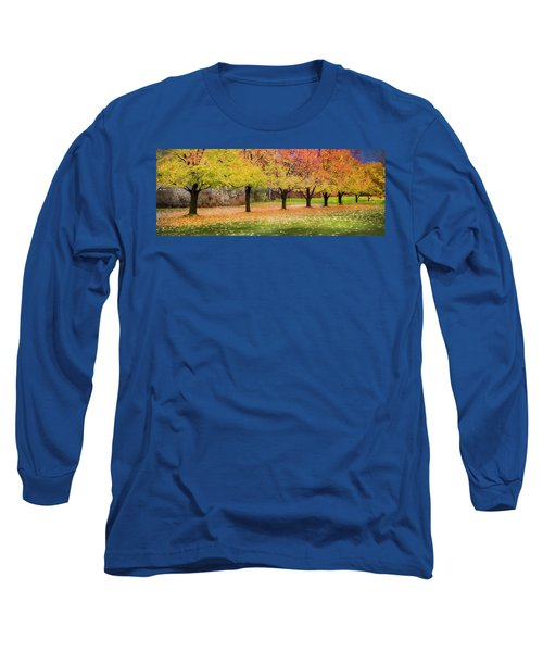 Long Sleeve T-Shirt featuring the photograph Impressionist Autumn by Theresa Tahara