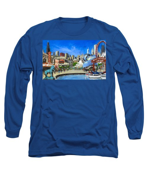 Impressions Of Chicago Long Sleeve T-Shirt by Robert Reeves