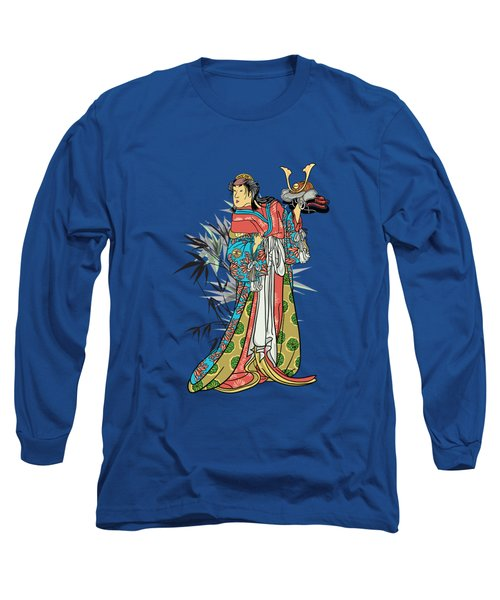 Long Sleeve T-Shirt featuring the drawing In The Garden. by Andrzej Szczerski