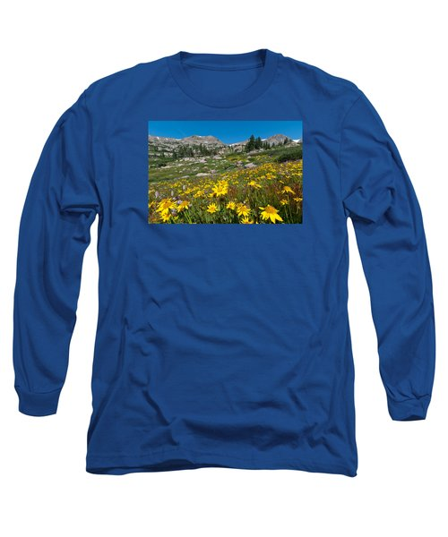 Indian Peaks Summer Wildflowers Long Sleeve T-Shirt