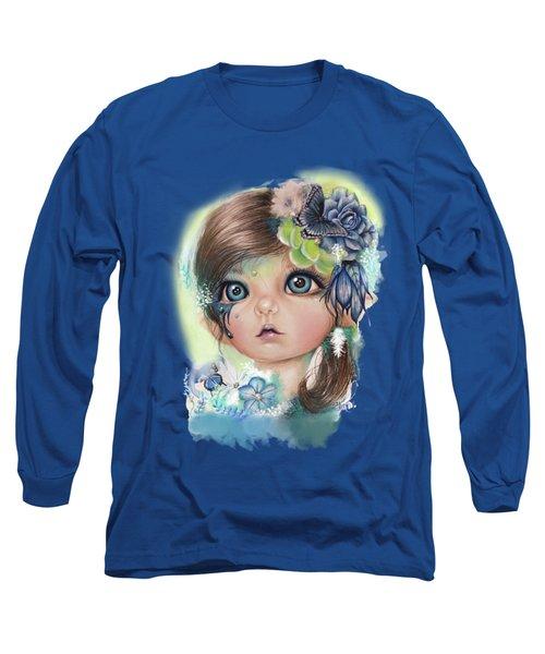 Indigo - Butterfly Keeper - Munchkinz By Sheena Pike  Long Sleeve T-Shirt by Sheena Pike