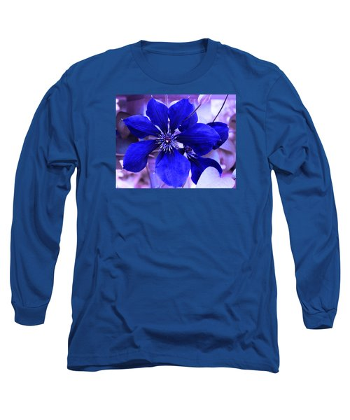 Long Sleeve T-Shirt featuring the photograph Indigo Flower by Milena Ilieva