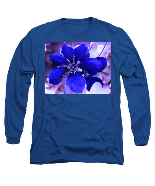 Indigo Flower Long Sleeve T-Shirt