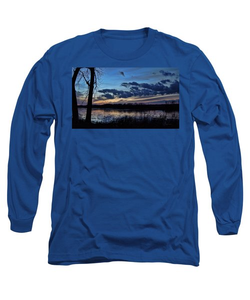 Long Sleeve T-Shirt featuring the photograph Indigo Skies by Cricket Hackmann