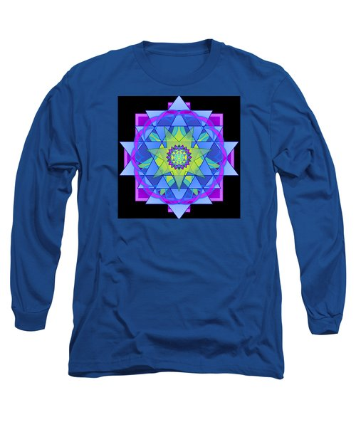 Inner Light Mandala Long Sleeve T-Shirt by Mimulux patricia no No