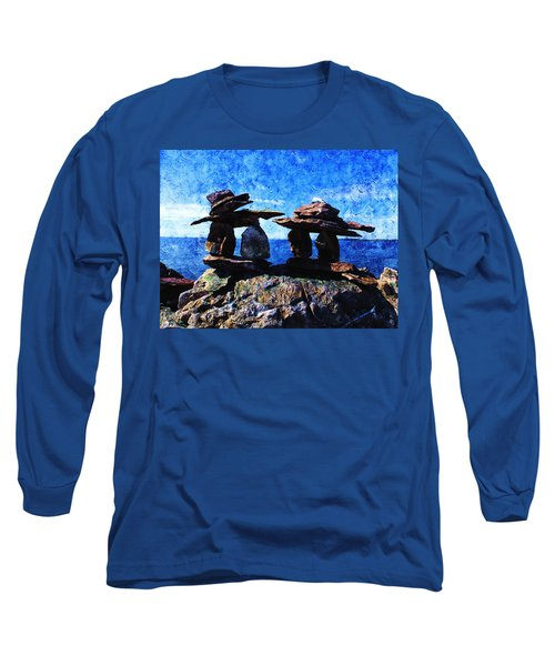 Inukshuk Long Sleeve T-Shirt by Zinvolle Art