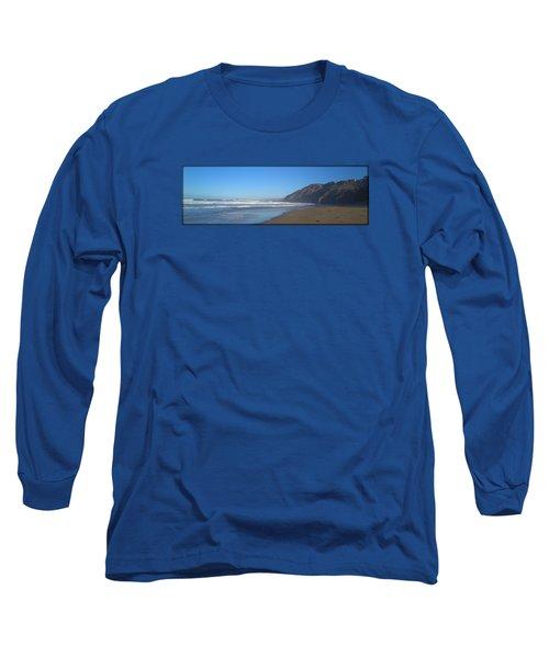 Irish Beach With Border Long Sleeve T-Shirt