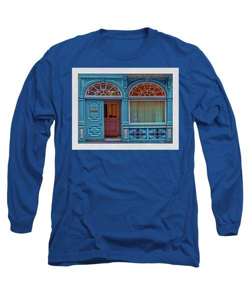 Long Sleeve T-Shirt featuring the digital art Irish Door by Hanny Heim