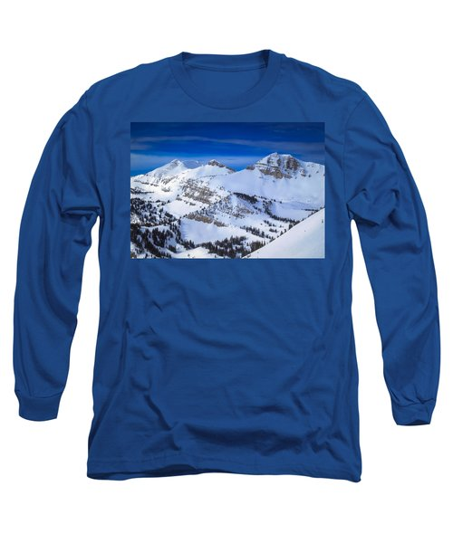 Jackson Hole, Wyoming Winter Long Sleeve T-Shirt by Serge Skiba