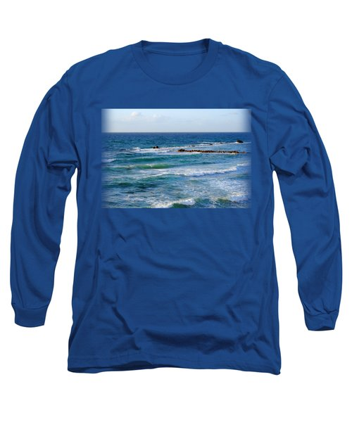 Jaffa Beach T-shirt Long Sleeve T-Shirt by Isam Awad